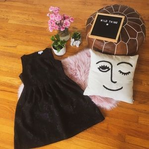 Plus size embroidered roses little black dress